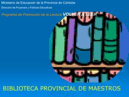 bibliotecas_2004 - Biblioteca Nacional de Maestros
