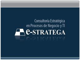 servicios - Estratega – Consultoría en estrategia y procesos