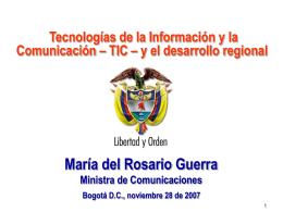 Mincomunicaciones - Dra. María Del Rosario Guerra