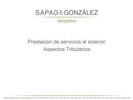 Presentación Sapag & Gonzalez
