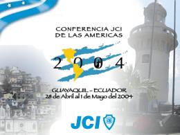 JCI Ecuador 2004 Ceremonia de Premios