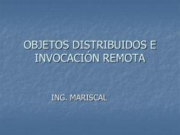 objetos distribuidos e invocación remota
