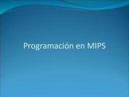 Programación en MIPS - Universidad de Sonora
