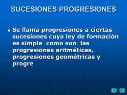 progresiones 1