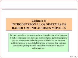 Tema 4: Introducción a las comunicaciones móviles