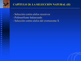 capítulo 20. la selección natural (ii)