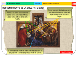 Descendimiento de la cruz: el color