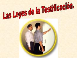 AL -Las Leyes de la Testificacion