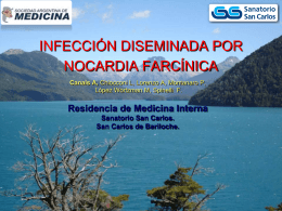 Infección diseminada por Nocardia Farcinica