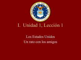 I. Unidad 1, Lección 1