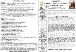 3 Marzo 2013 - Iglesia Cristiana Evangélica de Colmenar Viejo