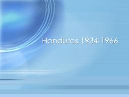 Honduras 1934-1966