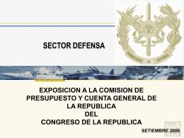 Ministerio de Defensa - Congreso de la República del Perú