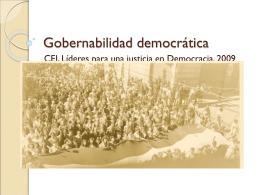 Gobernabilidad democrática - Centro de Estudios Judiciales