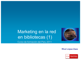 Marketing en la red en bibliotecas
