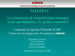 TALLER I. La inserción internacional y el sector agropecuario