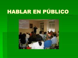HABLAR EN PÚBLICO - Iglesia de Cristo en Temuco