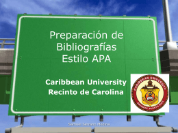 Presentación de APA, referencias bibliográficas ofrecida a