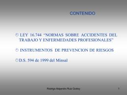 ACCIDENTE DEL TRABAJO Y ENFERMEDADES