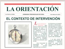 La Orientación - El Contexto de Intervención