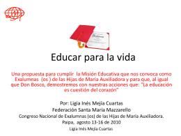 Educar para la vida Texto resumen.doc