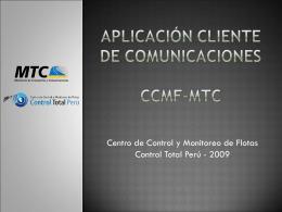 Aplicación cliente de comunicaciones ccmf-mtc