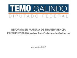 Transparencia del Gasto Público en los Tres Órdenes de Gobierno