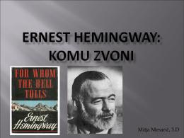 Ernest Hemingway: KOMU ZVONI