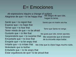 E= Emociones