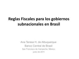 asesora de asuntos fiscales del banco central del brasil
