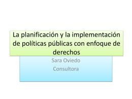 La planificación y la implementación de políticas públicas