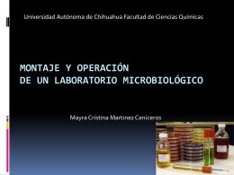 Montaje y Operación de un lab microbiologico
