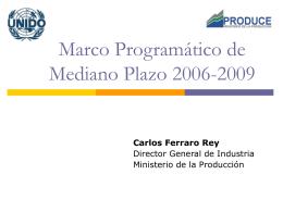 Marco Programático de Mediano Plazo 2006-2009