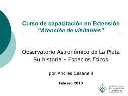 Historia del Observatorio Astronómico de La Plata