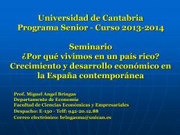 Crecimiento y desarrollo económico en la España contemporánea