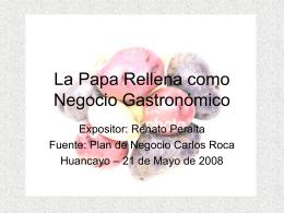 La papa rellena como negocio gastronómico