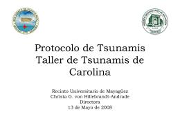 Protocolo de Tsunami - Red Sísmica de Puerto Rico