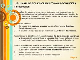 UD. 11 ANÁLISIS DE LA VIABILIDAD ECONÓMICO