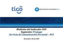 Informe NSU PCS Prepago