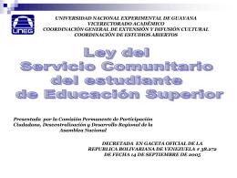 Ley De Servicio Comunitario (Síntesis)