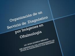 Organización de un Servicio de Diagnóstico por Imágenes en