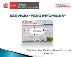 """SERVICIO """"PERÚ INFOMIGRA"""""""