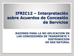 IFRIC 12 – Acuerdos de Concesión de Servicios