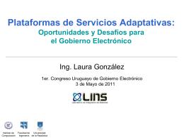 Descargar presentación Plataformas de Servicios Adaptativas