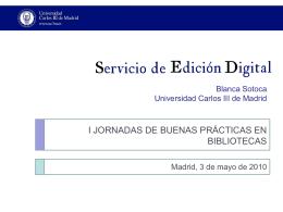 Servicio de Edición Digital