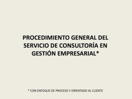 procedimiento general del servicio de