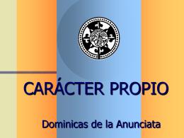 CARÁCTER PROPIO