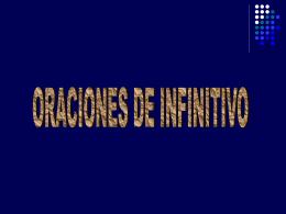 ORACIONES DE INFINITIVO 09-10