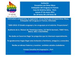 Invitacioncharla - Uruguay@s en Francia
