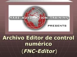 Archivo de control numerico